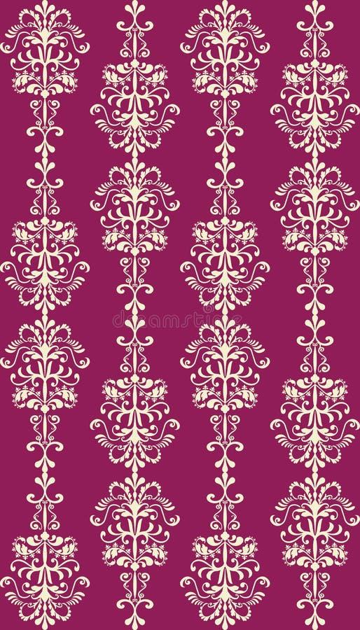 Opulent seamless damask stock photos