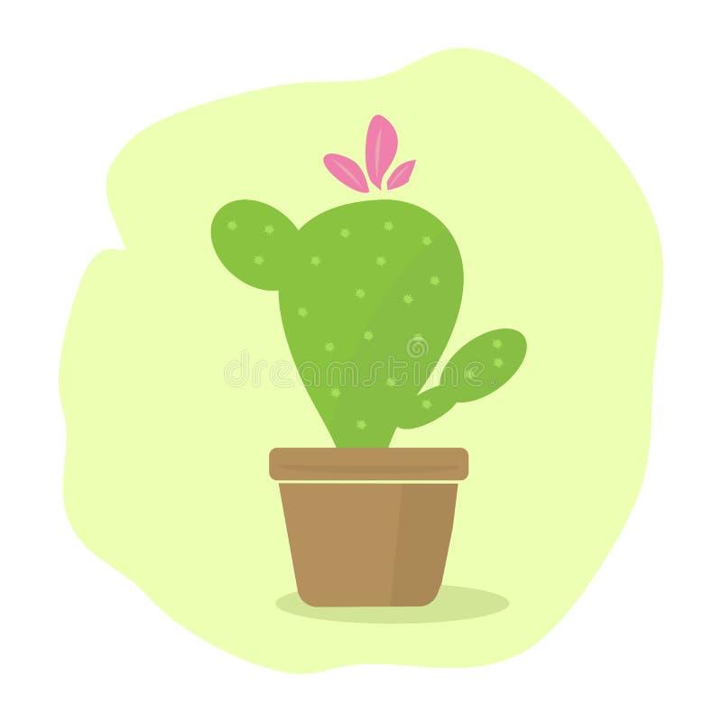 Opuntia cactus stock image