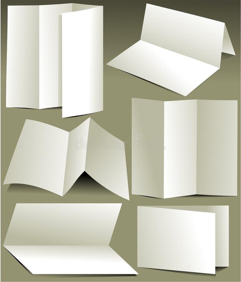 Opuscoli bianchi in bianco royalty illustrazione gratis