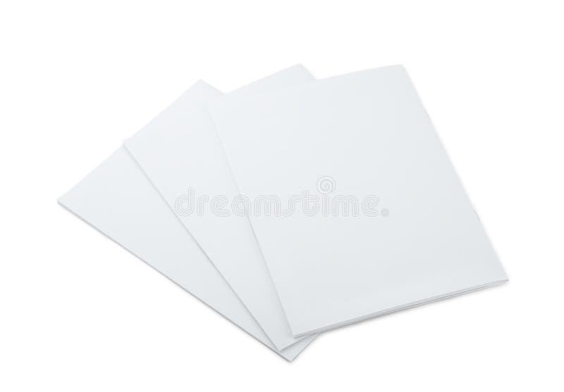 Opuscoli in bianco immagine stock