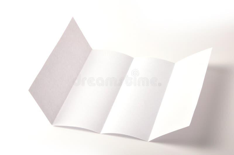 Opuscolo in bianco immagine stock libera da diritti