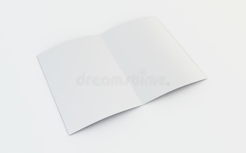 Opuscolo in bianco illustrazione vettoriale