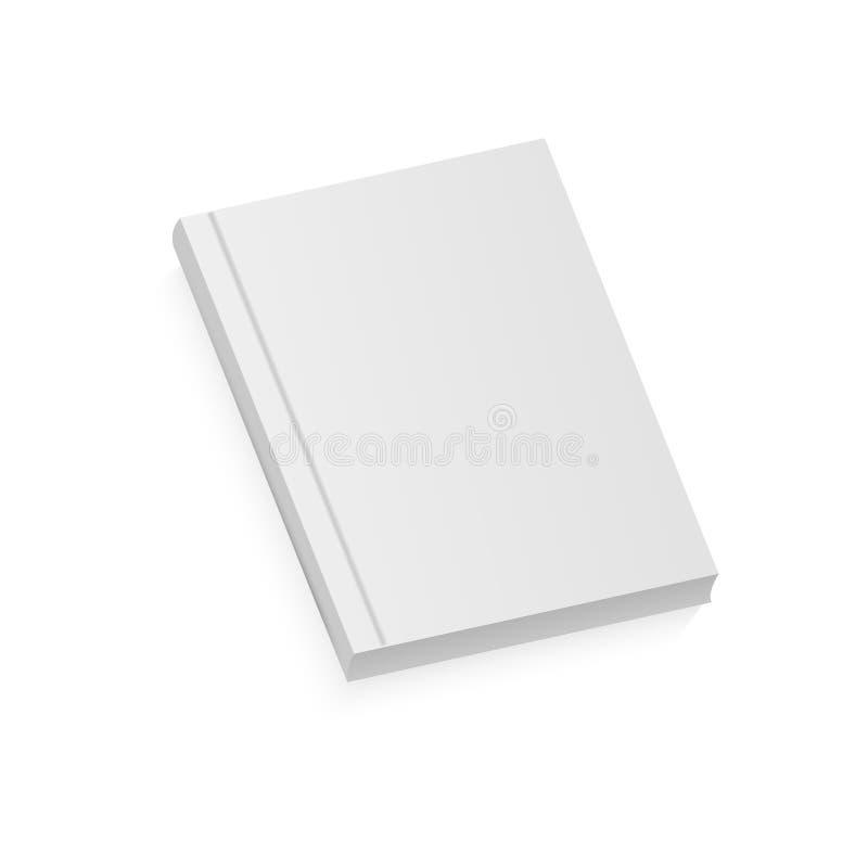 Opuscolo in bianco realistico bianco illustrazione di stock