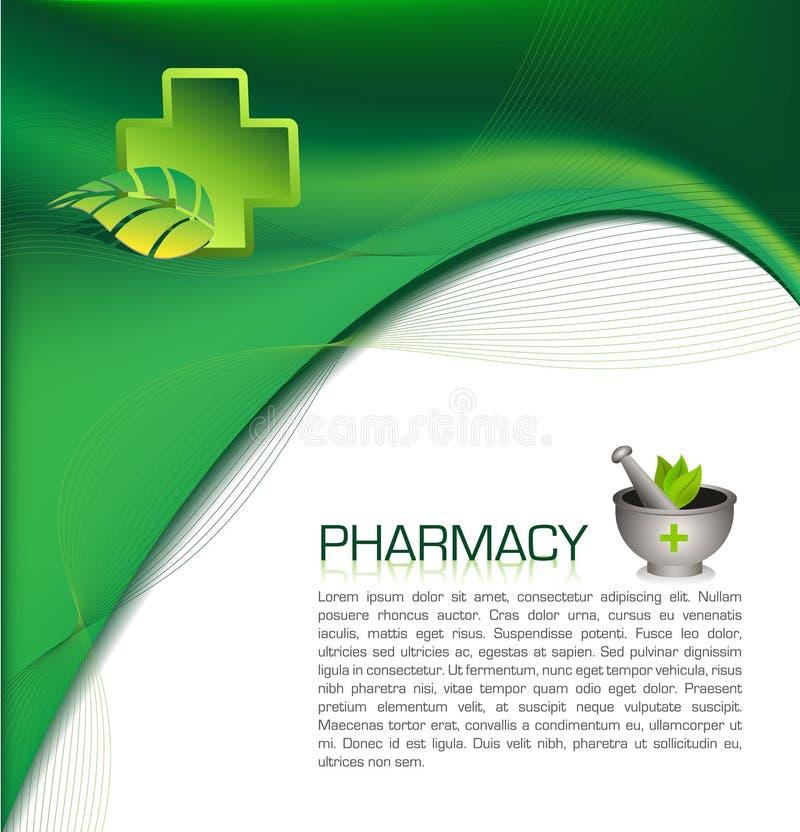 Opuscolo della farmacia illustrazione di stock