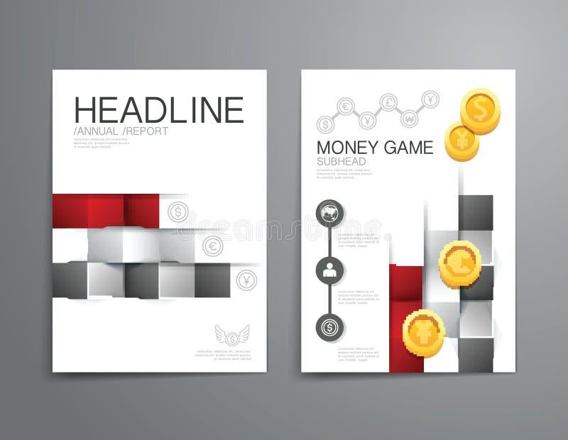Opuscolo di affari, aletta di filatoio, vettore del modello di progettazione della copertura di rivista illustrazione vettoriale