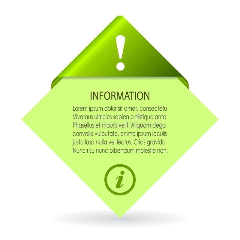 Opuscolo di informazioni di vettore illustrazione di stock