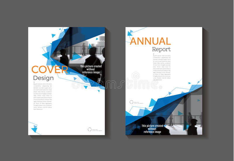 Opuscolo moderno dell'estratto della copertura della copertura del modello blu del libro, progettazione, illustrazione vettoriale