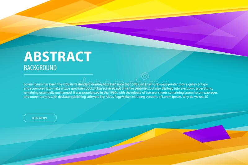 Opuscolo moderno geometrico della società di progettazione di affari del fondo dell'estratto, aletta di filatoio, modello di cope illustrazione vettoriale