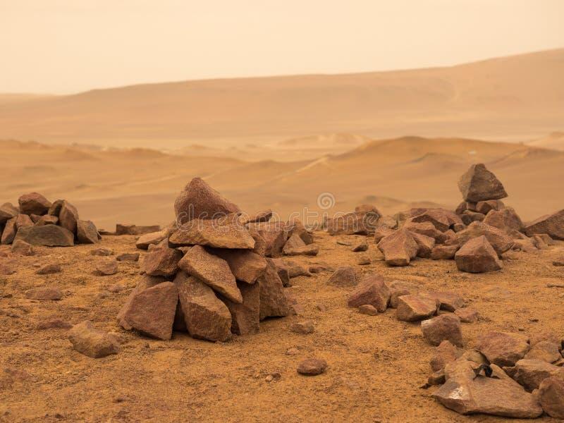 Opustoszała czerwona ziemna planeta zdjęcia royalty free