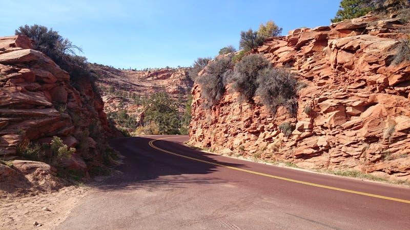 Opustoszała droga w Utah zdjęcia royalty free