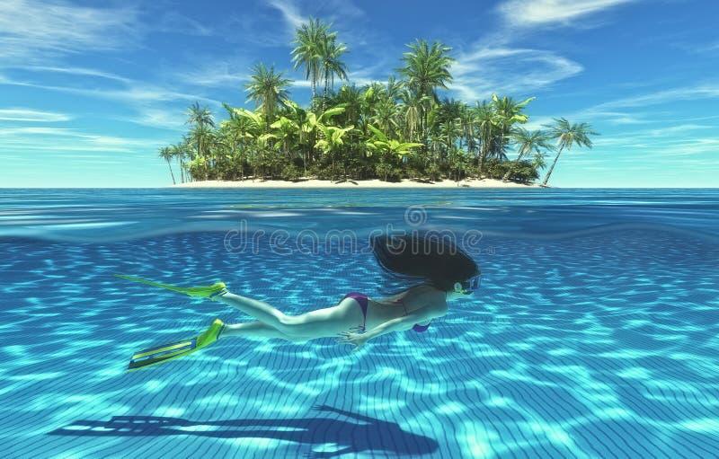 Opustoszały tropikalny raj zdjęcie stock