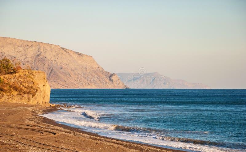 Opustoszały wybrzeże Czarny morze zdjęcie stock