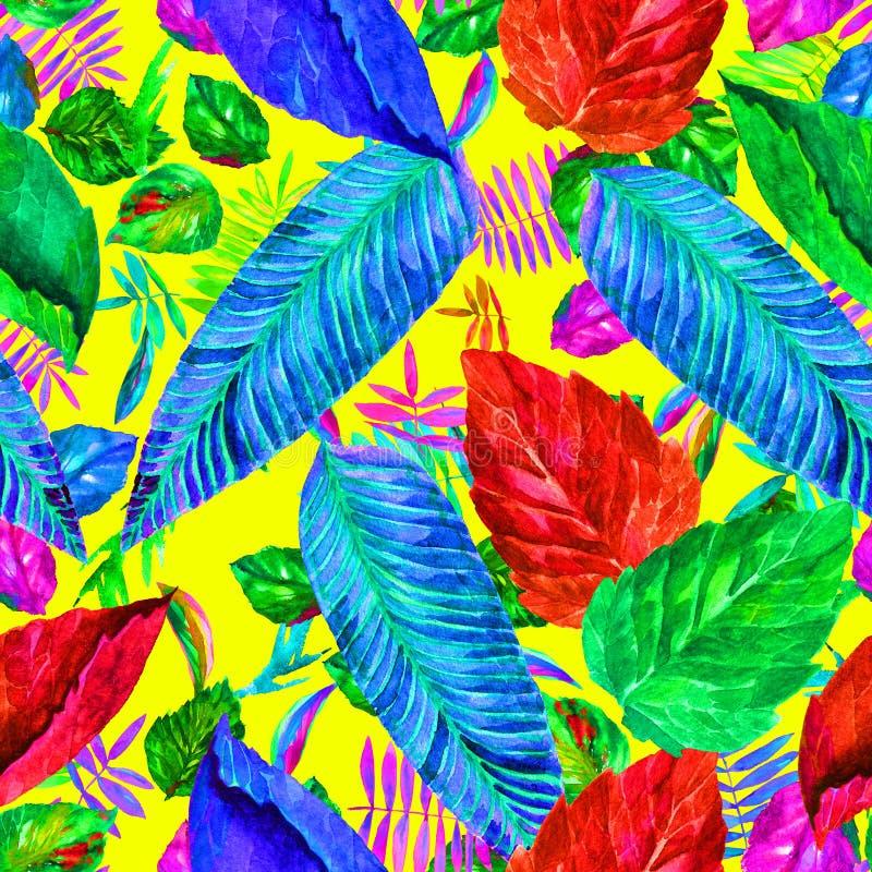 Opuszcza kolorowego wzór liści tła ilustracji piękna wektora beak dekoracyjnego latającego ilustracyjnego wizerunek swój papierow obraz royalty free