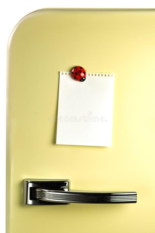 Opuszcza wiadomość na fridge zdjęcia stock