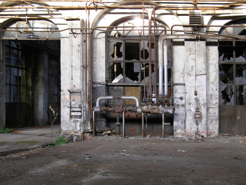 opuszczona fabryka obrazy royalty free