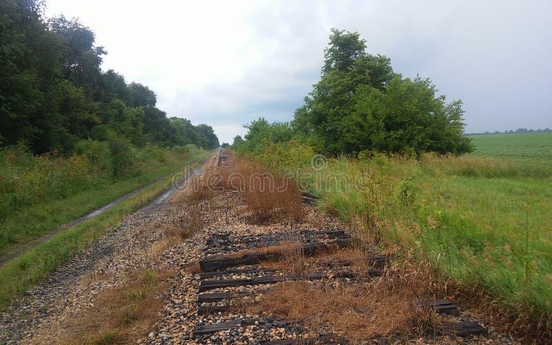 opuszczona linia kolejowa obraz royalty free