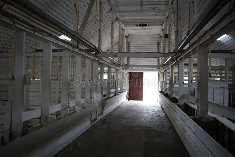 opuszczony budynek E r r fotografia stock