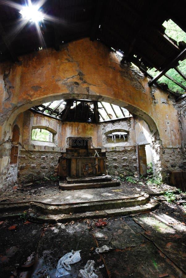 opuszczony kościoła zdjęcia stock