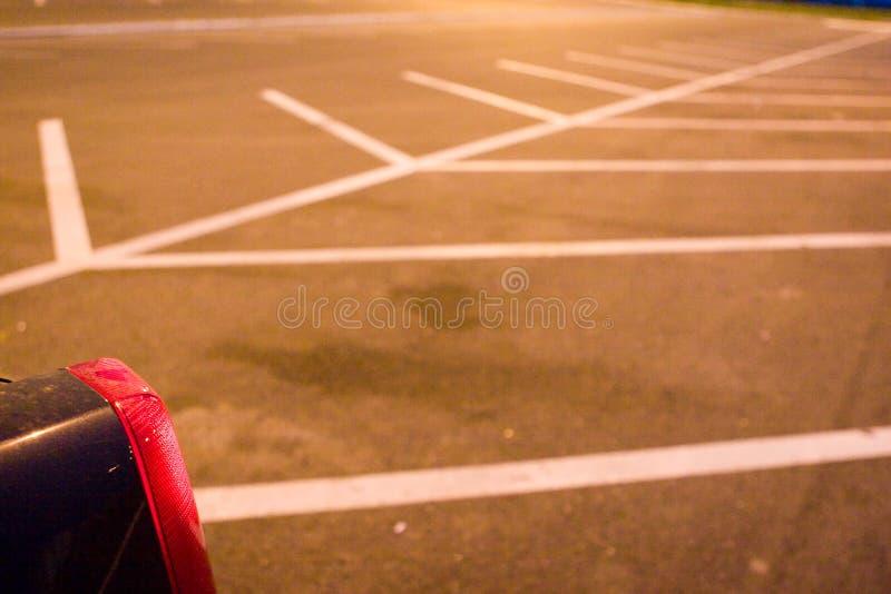 opuszczony parking partii zdjęcia royalty free