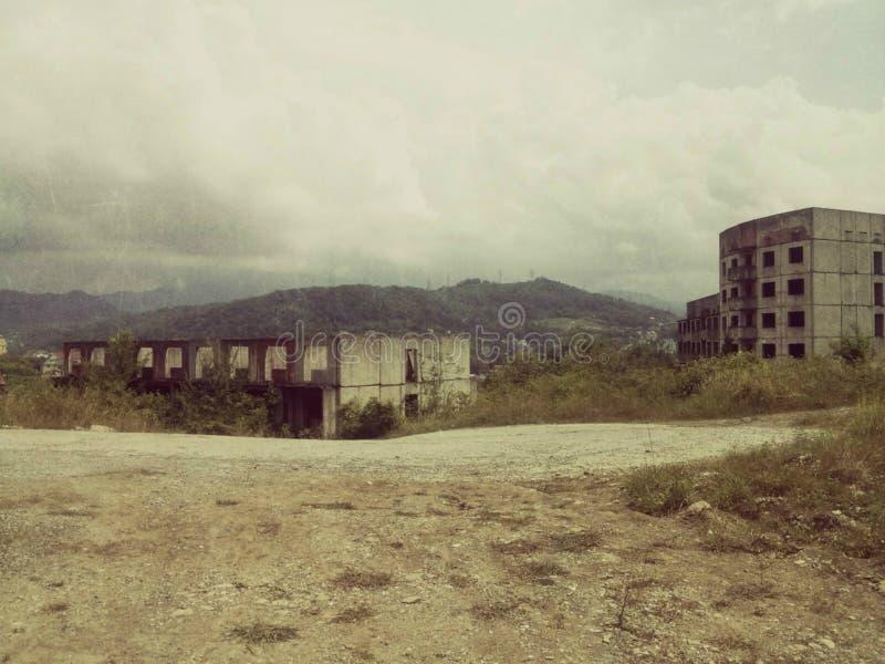 opuszczonych budynków zdjęcia stock