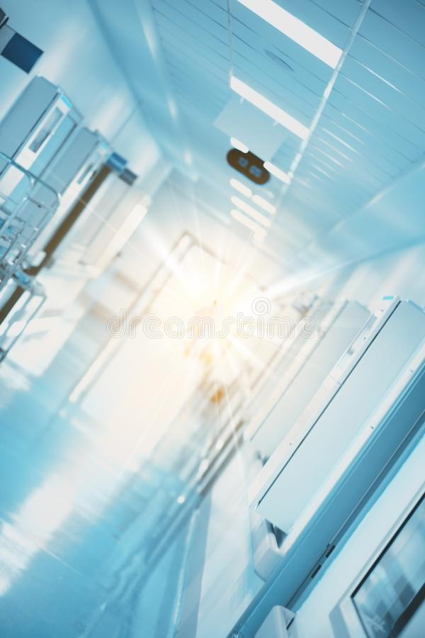 Opvlammend licht in de medische de bouwgang als concept a royalty-vrije stock foto