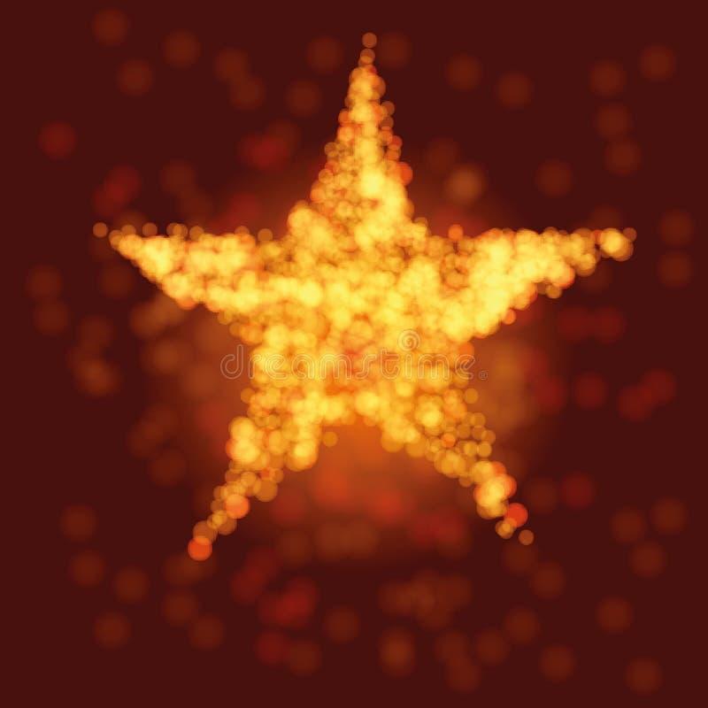 Opvlammende ster in de nachthemel royalty-vrije illustratie