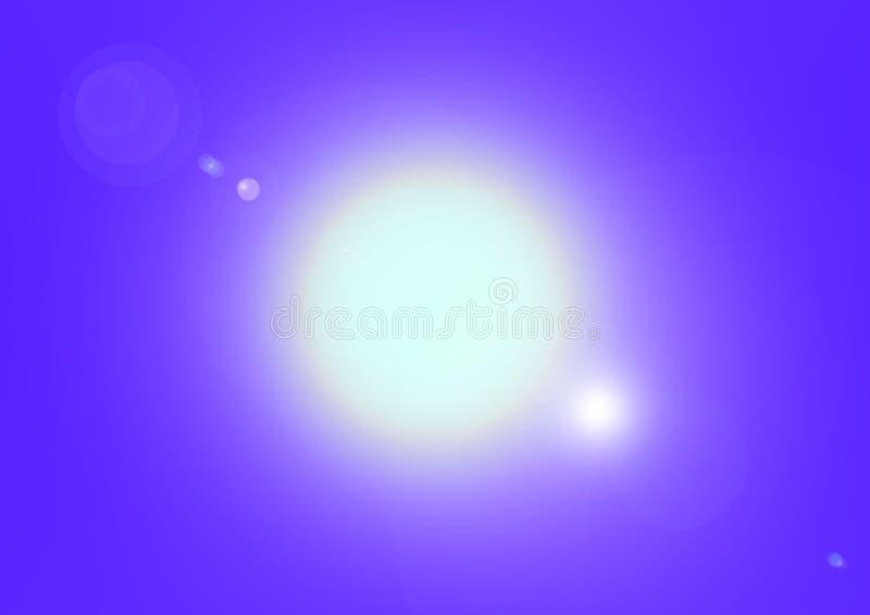 Opvlammende zon en blauwe hemel royalty-vrije illustratie