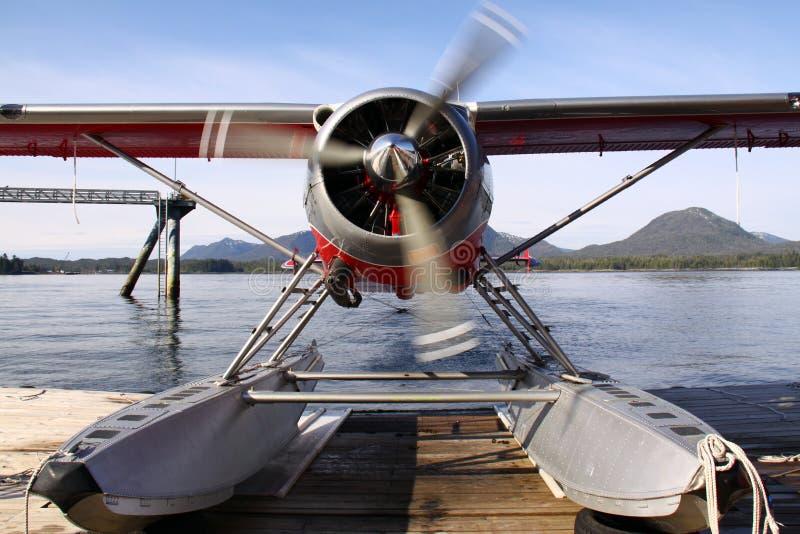 Opwarmen het van Alaska van het Vliegtuig van de Vlotter royalty-vrije stock foto's