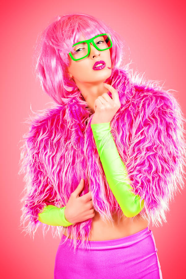 Opwindend roze royalty-vrije stock foto's