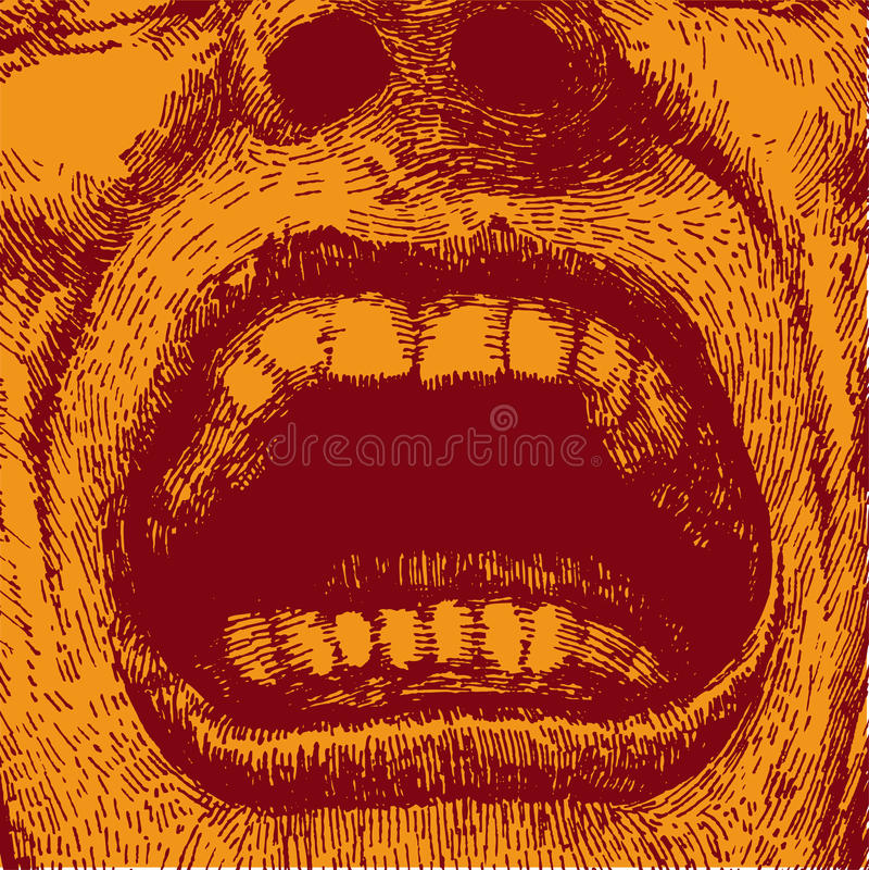Opzichtige mannelijke mond stock illustratie
