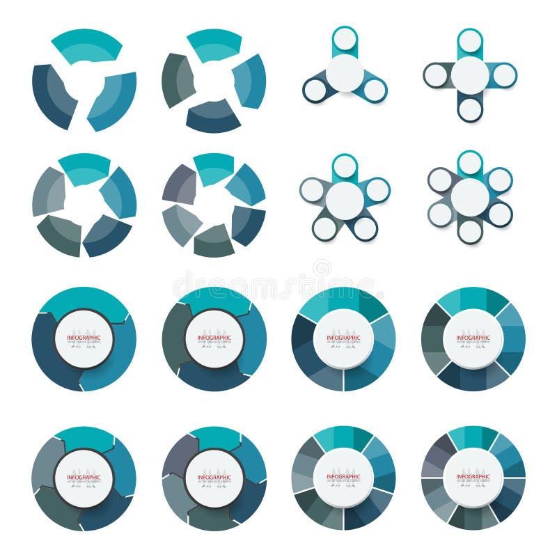 Opzione astratta del pacco di infographics dell'elemento di vettore Progettazione per la b royalty illustrazione gratis
