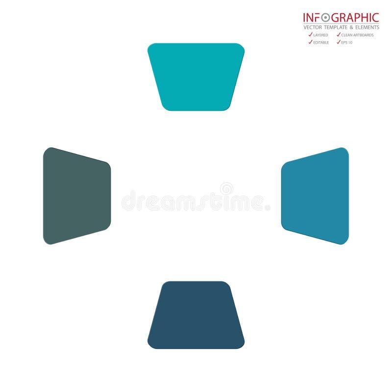 Opzione astratta di infographics 4 dell'elemento di vettore Progettazione per il busine illustrazione vettoriale