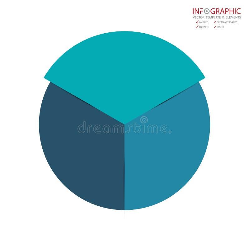 Opzione astratta di infographics 3 dell'elemento di vettore Progettazione per il busine illustrazione vettoriale