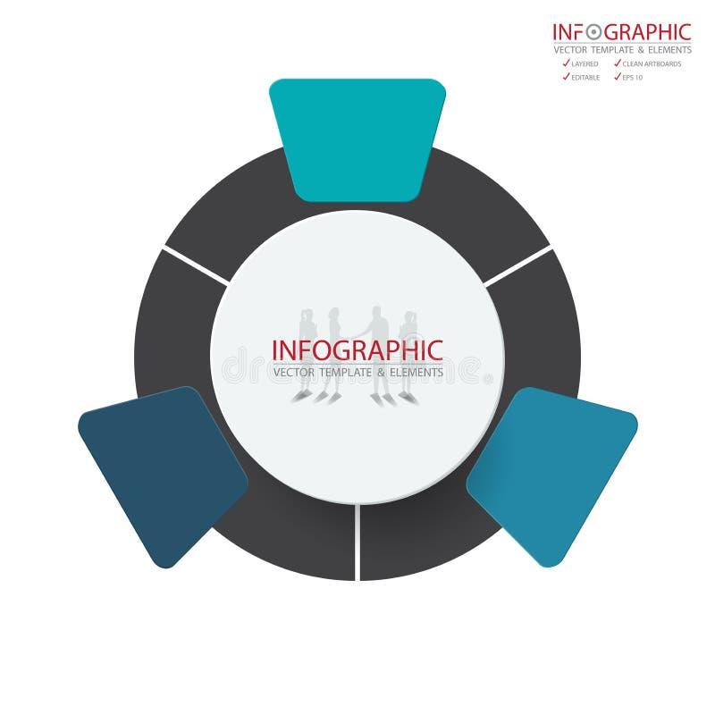 Opzione astratta di infographics 3 dell'elemento di vettore Progettazione per il busine fotografia stock