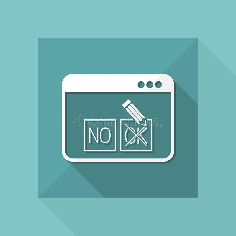 Opzione di web del controllo - approvi o diminuisca - Vector l'icona piana illustrazione di stock