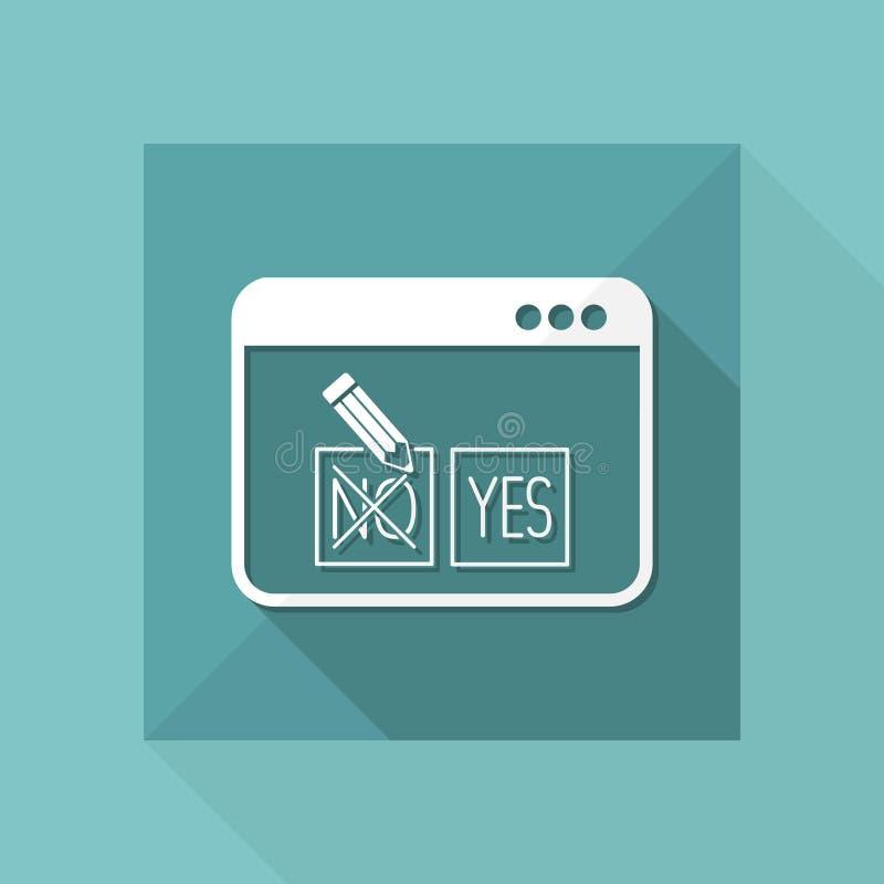 Opzione di web del controllo - approvi o diminuisca - Vector l'icona piana illustrazione vettoriale