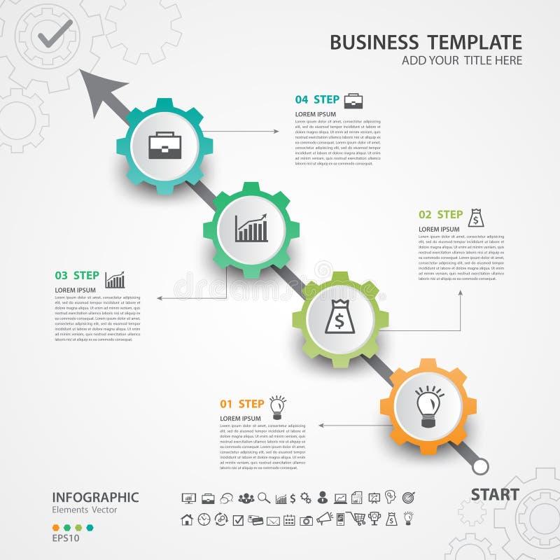 Opzioni astratte modello, illustrazione di vettore, web design, presentazione, diagramma, grafico trattato, aletta di filatoio di illustrazione vettoriale