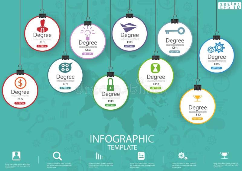 Opzioni d'attaccatura dell'icona di affari per il modello di Infographic dell'illustrazione di vettore di idea e di concetto di p immagini stock libere da diritti