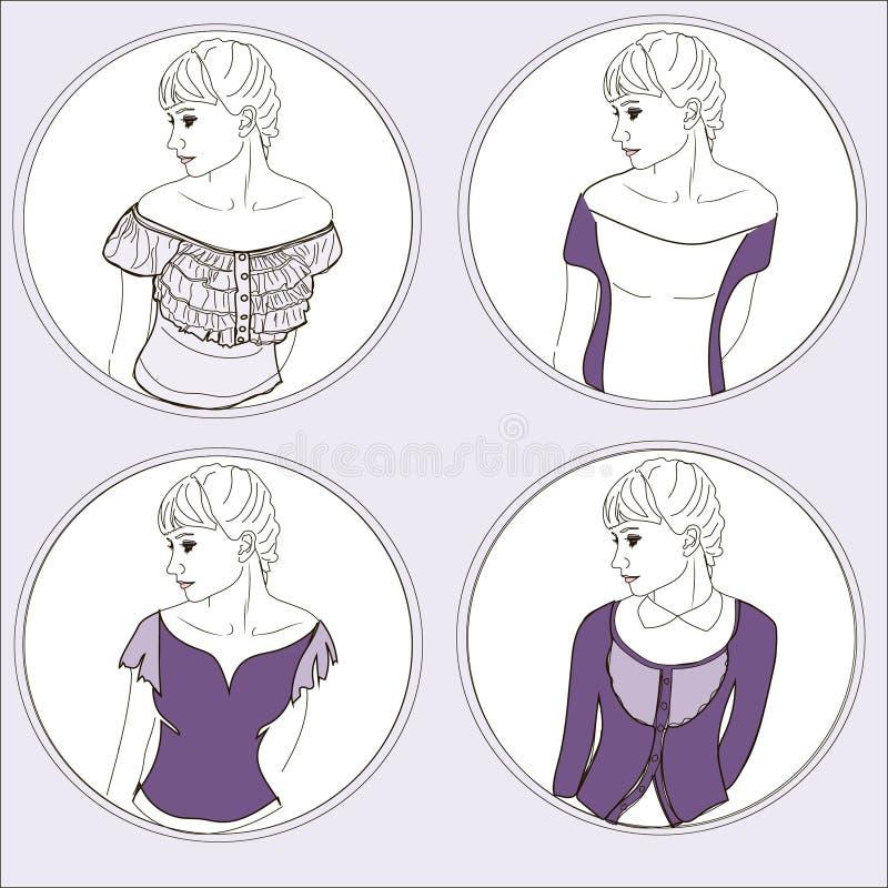 Opzioni dell'abbigliamento immagine stock