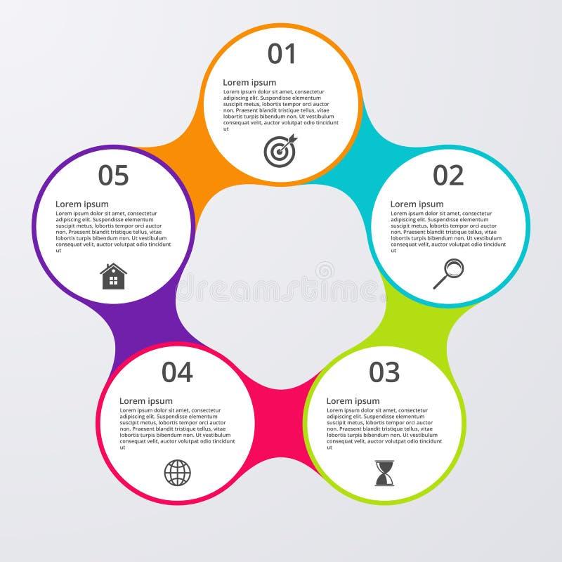 Download Opzioni Infographic Dell'illustrazione Di Vettore Cinque Illustrazione Vettoriale - Illustrazione di background, moderno: 56891281