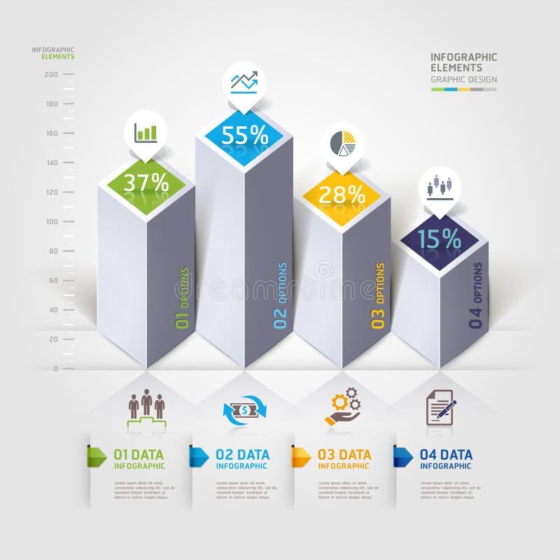 Opzioni moderne di infographics 3d. illustrazione di stock
