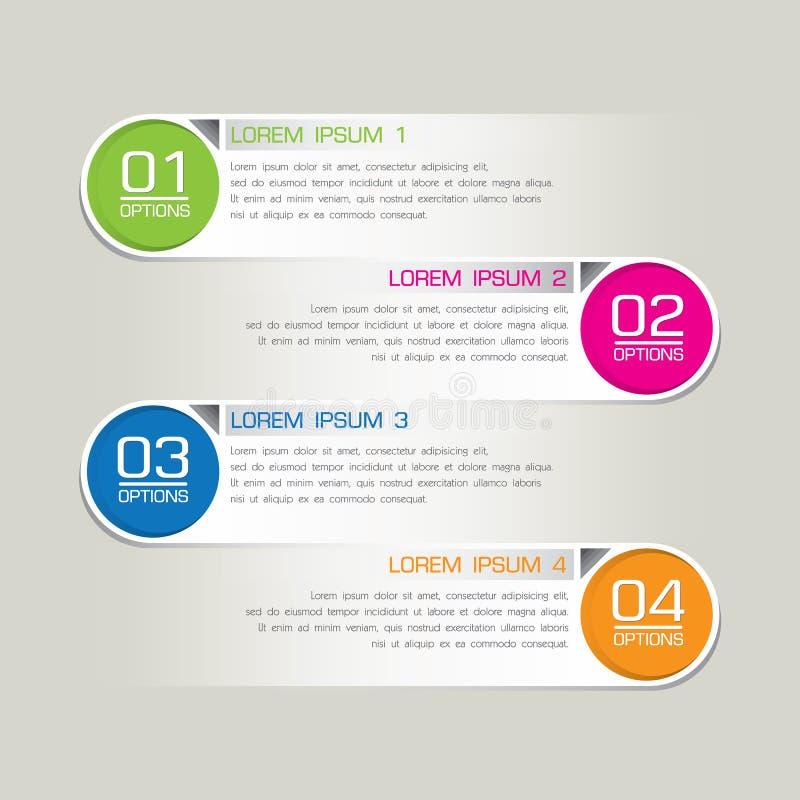 Opzioni moderne di punto di affari. Illustrazione di vettore immagine stock