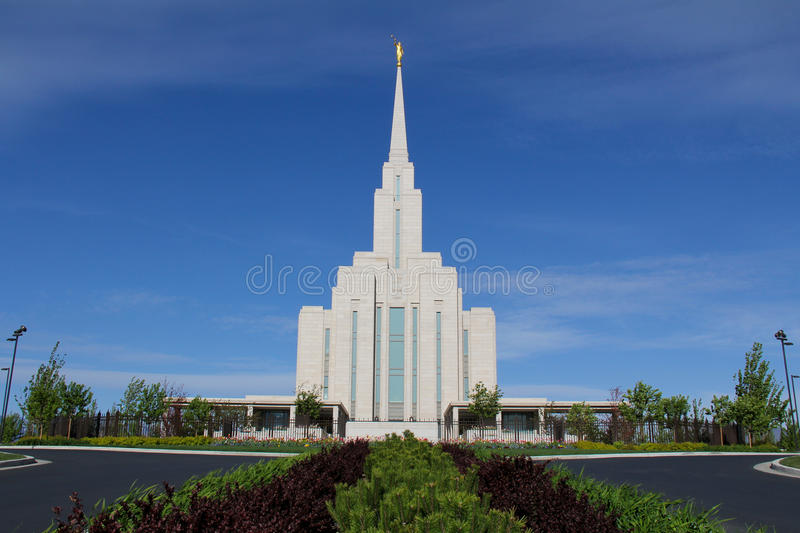 Download Oquirrh Mountain Temple stock image. Image of belief - 24562217
