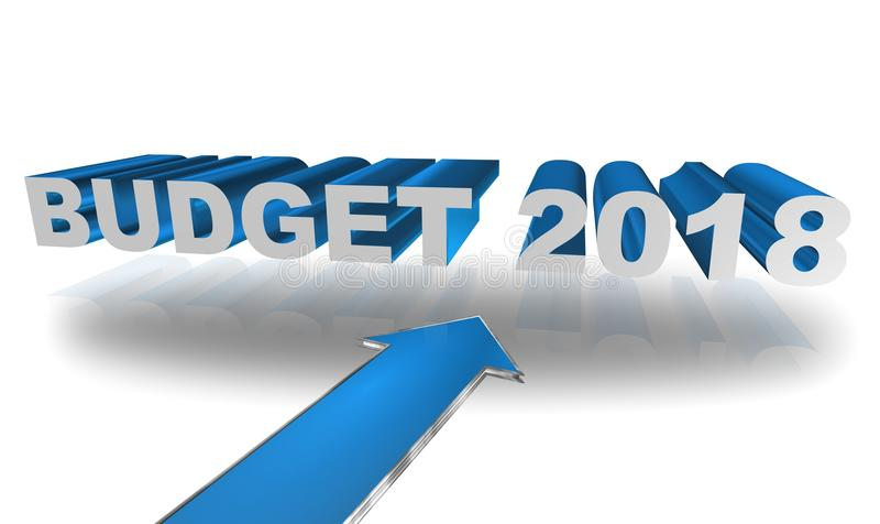 Orçamento 2018 ilustração royalty free