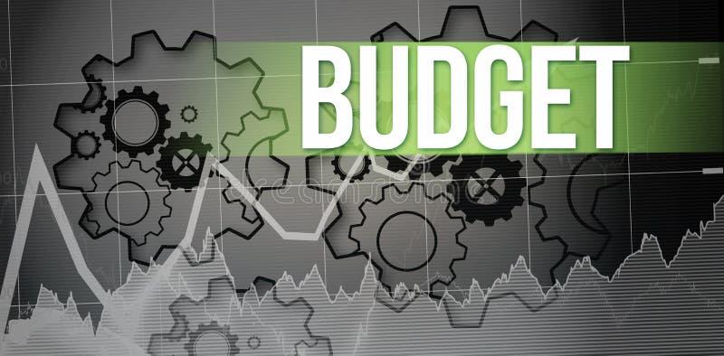 Orçamento contra rodas denteadas de giro ilustração stock