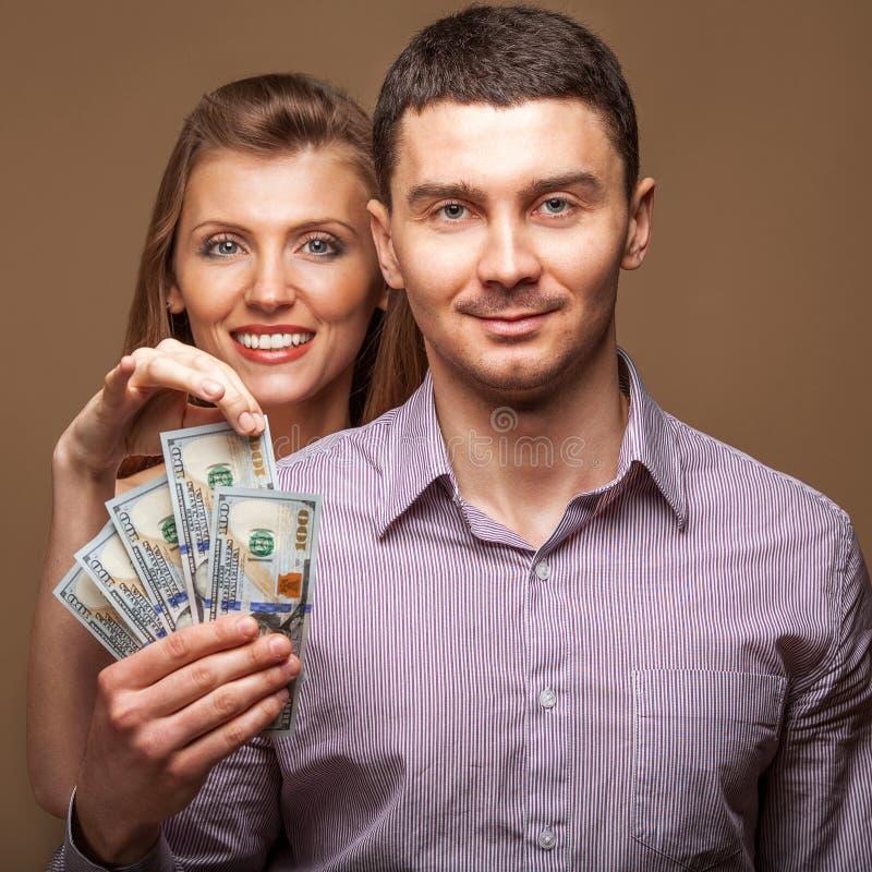 Orçamento de família bonito dos pares da forma fotos de stock
