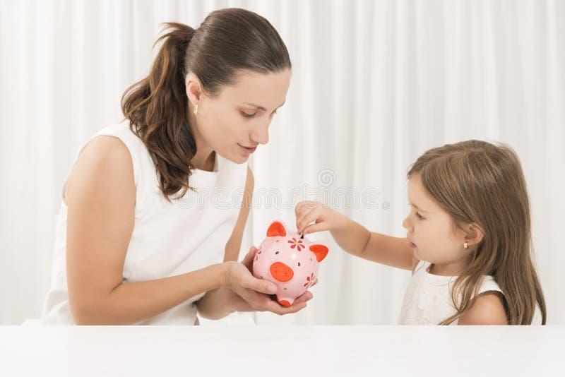 Orçamento de família e conceito das economias fotografia de stock