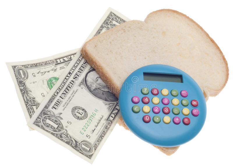 Orçamento do alimento fotos de stock royalty free