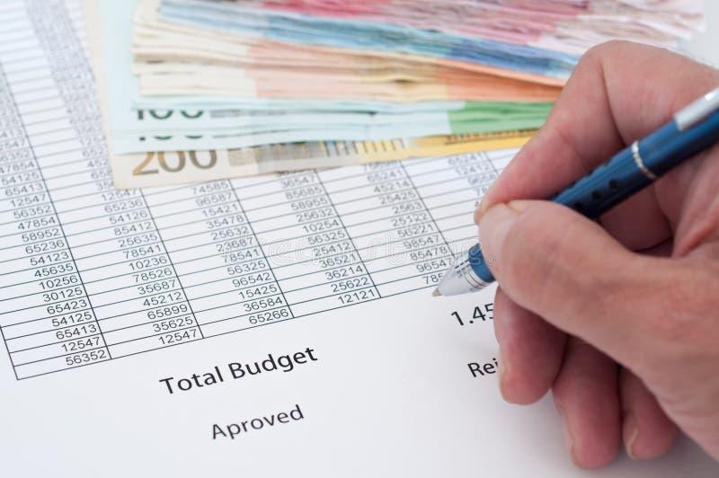 Orçamento do original fotos de stock