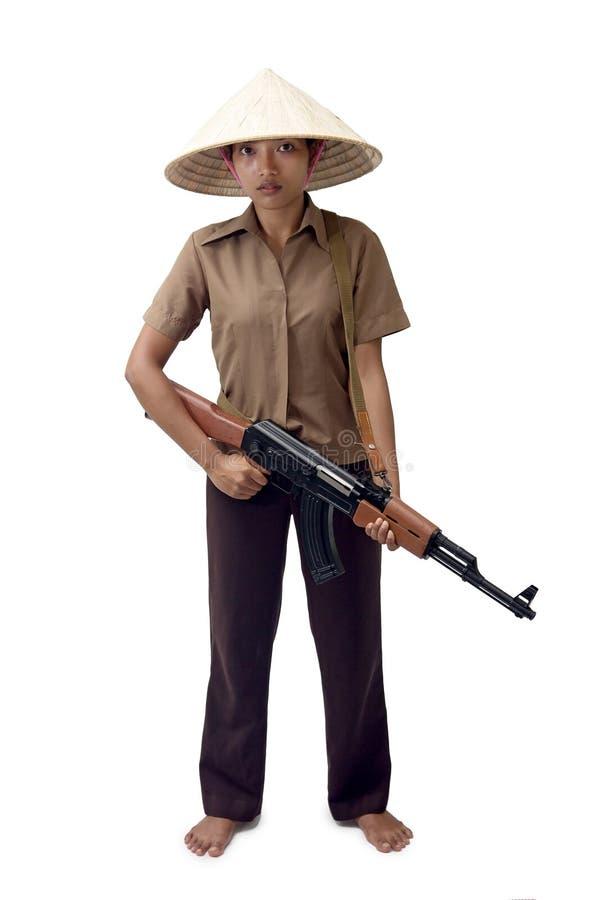 Orężna Azjatycka kobieta zdjęcie royalty free